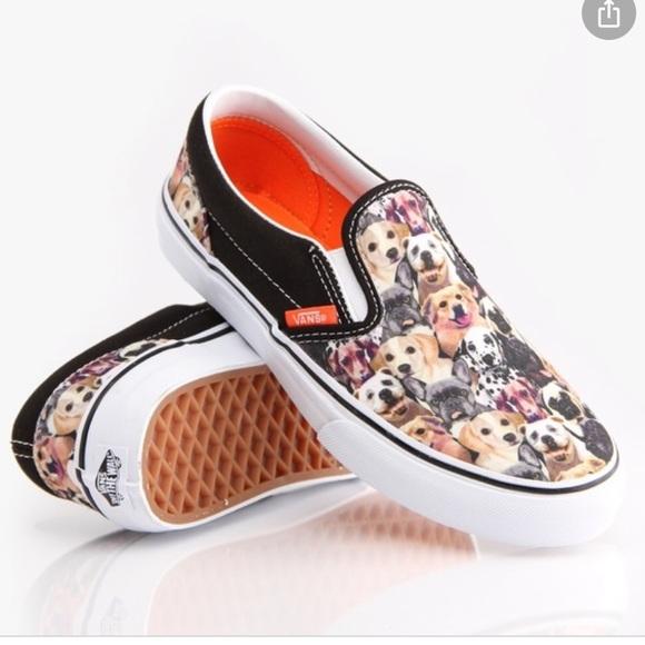 Vans ASPCA Allover Poppy Dog Print Sneakers Slipon